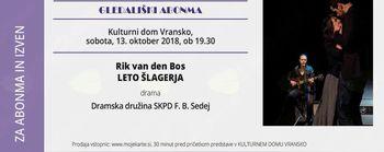 LETO ŠLAGERJA - gledališki abonma in izven