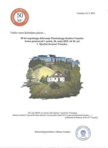 50 LET PLANINSKEGA DRUŠTVA VRANSKO