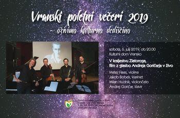 V KRALJESTVU ZLATOROGA, film z glasbo Andreja Goričarja v živo