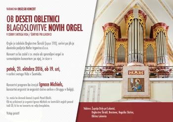Orgelski koncert - napoved