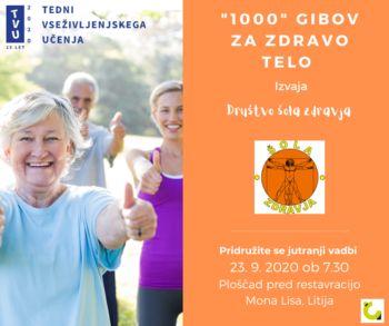 """""""1000"""" gibov za zdravo telo"""