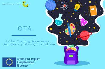 Vesela novica: Novi Erasmus+ projekt OTA za učitelje naravoslovnih predmetov v osnovnih šolah