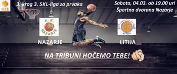 Košarkarska tekma Nazarje - Litija