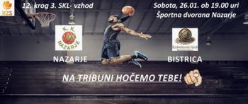Košarkarska tekma KK Nazarje : KK Bistrica