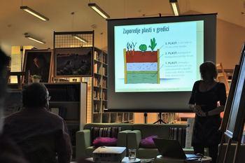 Predavanje o vrtnarjenju na visokih gredah v Občinski knjižnici Prebold