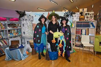 Pravljična zabava s čarovnicama Ulo in Frido v preboldski knjižnici