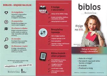 Medobčinska splošna knjižnica Žalec priporoča branje e-knjig na portalu BIBLOS