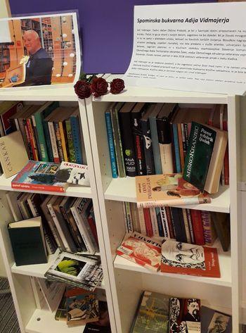 Spominska bukvarna Adija Vidmajerja v preboldski knjižnici