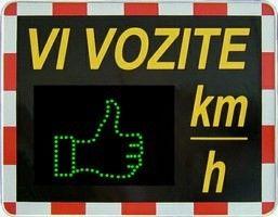 """Občina Oplotnica prejela v brezplačno uporabo prikazovalnik hitrosti """"VI VOZITE"""""""