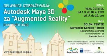 Vabilo izobraževanje Maya 3D napredni nivo