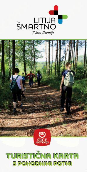 Turistična karta s pohodnimi potmi Litija - Šmartno