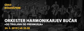 """""""Od Triglava do Prekmurja"""" z orkestrom harmonikarjev Bučar"""