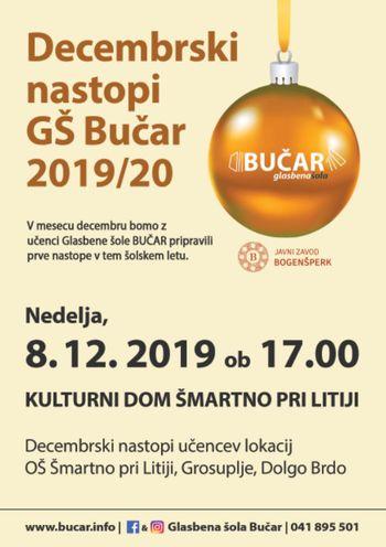 Decembrski nastop Glasbene šole Bučar 2019/2020