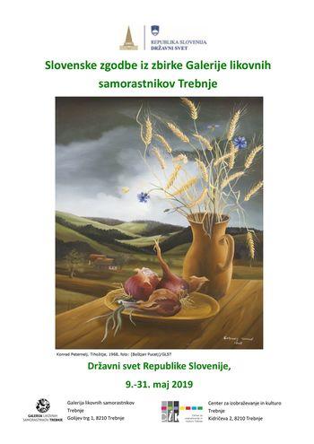 Razstava Slovenske zgodbe iz Galerije likovnih samorastnikov Trebnje