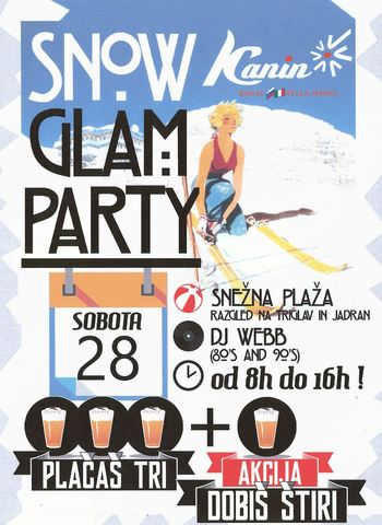 Snow Glamm Party na Kaninu