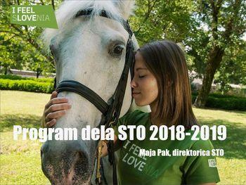 Program dela STO 2018 in 2019