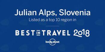 Lonely Planet je uvrstil Julijske Alpe med 10 izbranih svetovnih destinacij za leto 2018