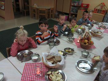Tradicionalni slovenski zajtrk v Vrtcu Cirkovce