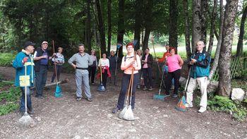 Čistilna akcija Turističnega društva Bled