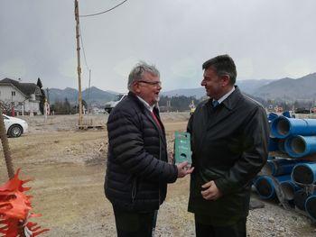 Minister Gašperšič ponovno  na gradbišču severne razbremenilne ceste