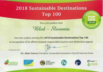 Bled med sto najbolj zelenimi in trajnostnimi destinacijami sveta
