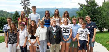 Sprejem odličnih učencev Osnovne šole prof.dr. Josipa Plemlja Bled