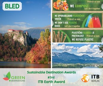 Bledu 3. mesto na svetu za kampanjo o zmanjševanju količine odpadkov in na področju trajnosti, Sloveniji zmaga v kategoriji najboljših v Evropi