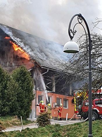 Požar v centru Bleda