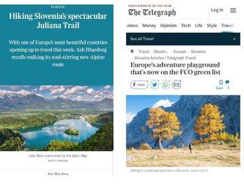 Tuji mediji o Sloveniji