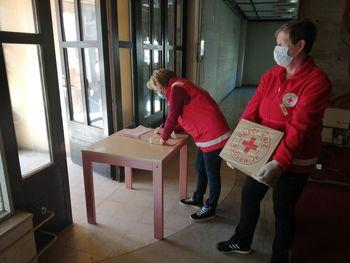 Centralno skladišče Rdečega križa v Radovljici