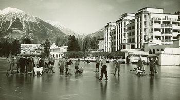 Zima na Bledu v starih časih