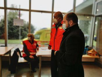 Množično cepljenje na Bledu in obisk ministra Janeza Poklukarja