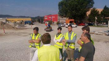 Zaključek gradnje krožišča v Vipavi predvidoma konec julija