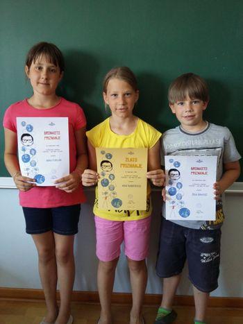 Učenci prejeli zlata priznanja