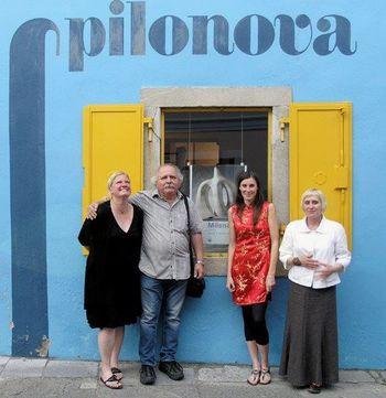 od leve proti desni Tina Ponebšek, Igor Lah, Maja Marinkovska in Tanja Cigoj