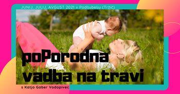 poletna poPORODNA VADBA na travi - fitMAMI & baby