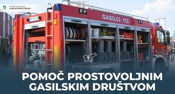 Pomoč prostovoljnim gasilskim društvom