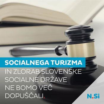 Socialnega turizma in zlorab slovenske socialne države ne bomo več dopuščali