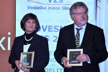Priznanja ob 60 – letnici Veslaške zveze Slovenije