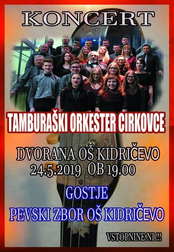 Koncert Tamburaškega orkestra Cirkovce ob dnevu ljubiteljske kulture