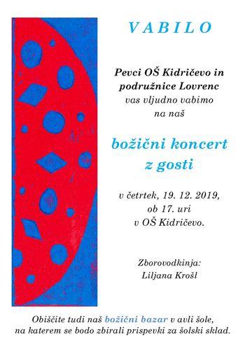 Božični koncert OŠ Kidričevo