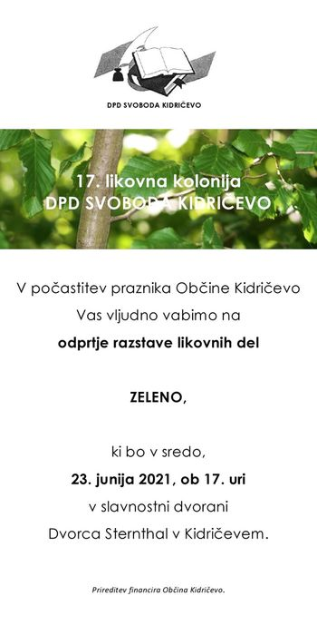 "ODPRTJE RAZSTAVE ""ZELENO"""