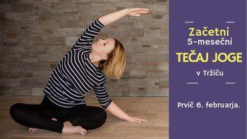 Začetni tečaj joge v Tržiču v februarju
