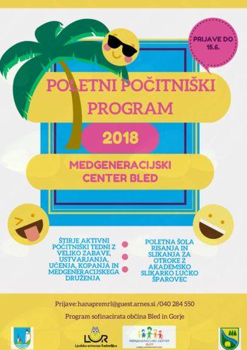 Počitniški program v Medgeneracijskem centru Bled