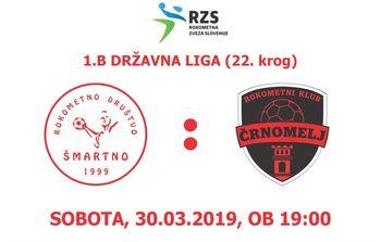 Rokometna tekma proti RK ČRNOMELJ (1.B DRL - 22. krog)