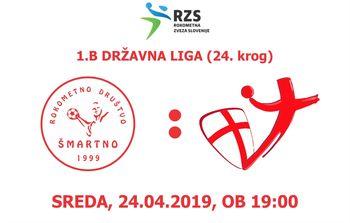 Rokometna tekma proti RK DRAVA PTUJ (1.B DRL - 24. krog)