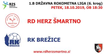 Rokometna tekma proti RK BREŽICE (1.B DRL - 6. krog)