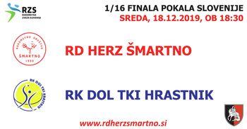 Rokometna tekma proti RK DOL TKI HRASTNIK (pokal 1/16 finala)
