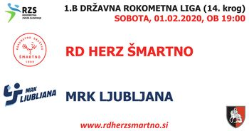 Rokometna tekma proti MRK LJUBLJANA (1.B DRL - 14. krog)