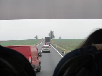 Na poti v Prago se je pokvaril avtobus
